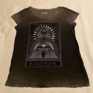 Distressed Lucky Brand Graphic Tee
